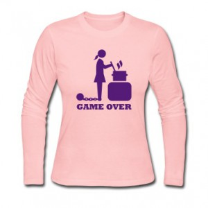 game-over-cooking-woman-bachelorette-bachelor---Long-Sleeve-Shirts